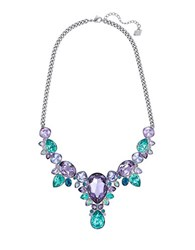 Swarovski Eglantine Multi Color Crystal Statement Necklace Purple