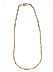 Christian Dior Vintage Simple Necklace Metallic