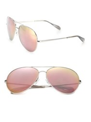 Oliver Peoples Sayer 63Mm Lilac Mirrored Lens Aviator Sunglasses
