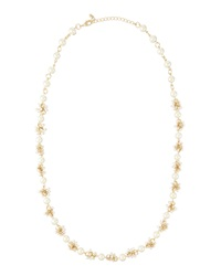 Fragments For Neiman Marcus Fragments White Faux Pearl Cluster Necklace