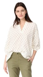 The Great Great. Easy Tunic Cream With Navy Dobby Dot