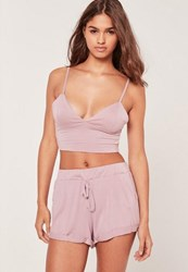 Missguided Lounge Pyjama Set Lilac Mauve
