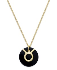 Studio Silver Taurus Pendant Necklace In 18K Gold Over Sterling Silver