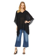 Steve Madden Mixed Lace Poncho Black Clothing