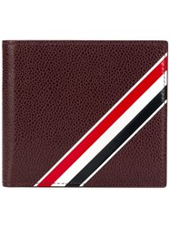 Thom Browne Bifold Leather Wallet Red