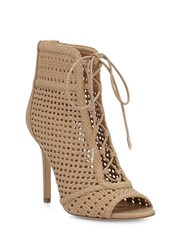 Sam Edelman Abbie Perforated Ankle Boots Nude