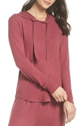 Make Model Lounge Hoodie Burgundy Dry Marl