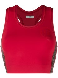 Fendi Ff Cropped Vest Top Red