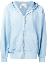 Laneus Basic Hooded Jacket Blue