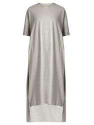 Acne Studios Patri Round Neck Cotton Jersey Dress Light Grey
