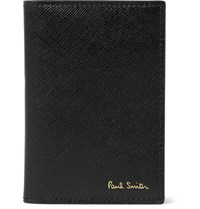 Paul Smith Saffiano Leather Bifold Cardholder Black