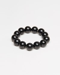Saskia Diez Medium Wood Bracelet Black