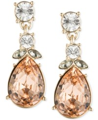 Givenchy Multi Crystal Pear Drop Earrings Gold