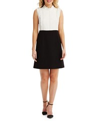 Donna Morgan Sleeveless Colorblocked Dress White Black