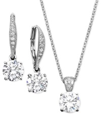 Eliot Danori Pendant And Earrings Set Cubic Zirconia 2 Ct. T.W.