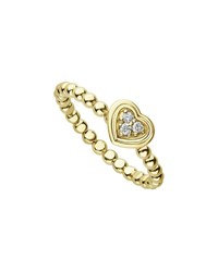 Lagos 18K Caviar Gold Diamond Heart Stack Ring