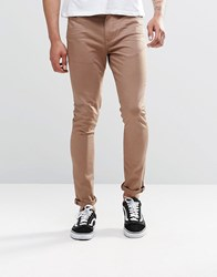 Asos Super Skinny Jeans In Brown Light Brown