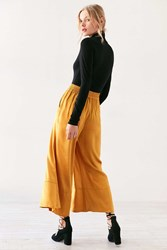 Silence And Noise Kara Satin Culotte Pant Gold