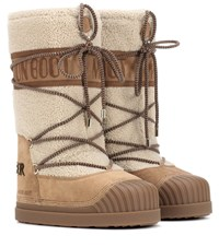 Moncler X Moon Boot Ankle Boots Brown