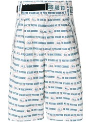 Sacai Belted Graphic Print Shorts White