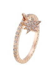 Diane Kordas 18Kt Rose Gold Ring With White Diamonds