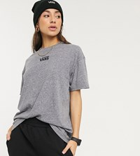Vans Oversized Chest Logo T Shirt In Grey Exclusive At Asos