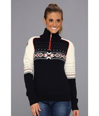 Dale Of Norway Kuppern Feminine C Navy Raspberry Off White Women's Sweater Black
