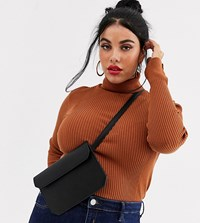 Asos Design Curve Flat Bum Bag Black