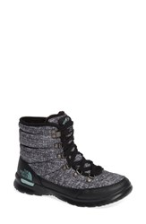 The North Face Lace Ii Thermoball Tm Insulated Winter Boot Hounds Tooth Print Blue Haze
