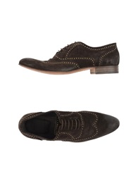 Trussardi Lace Up Shoes Dark Brown