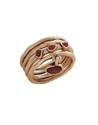 Lucky Brand Carnelian Stacked Ring Red