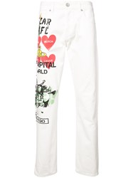 Vivienne Westwood Anglomania Printed Straight Leg Jeans White