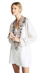 Loyd Ford Hand Embroidered Tunic Dress Ivory