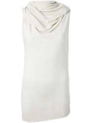 Lost And Found Hooded Tank Top Nude And Neutrals