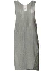 Lost And Found Ria Dunn Mesh Tank Top Grey