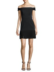 Abs By Allen Schwartz Off The Shoulder Pleated Hem Dress Charcoal