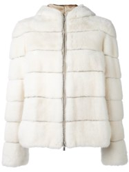 Eleventy Quilted Puffer Jacket White