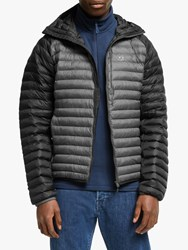 Haglofs Essens Mimic Hood 'S Insulated Quilted Jacket True Black Magnetite
