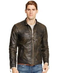 Polo Ralph Lauren Distressed Leather Jacket