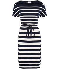 Cc Striped Jersey Tunic Dress Navy