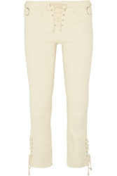 Isabel Marant Nubia Stretch Linen And Cotton Blend Skinny Pants