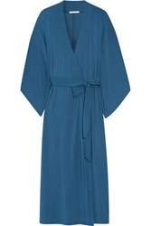 Eberjey Collette Stretch Modal Jersey Robe Storm Blue