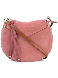 Jimmy Choo 'Artie' Shoulder Bag Women Suede One Size Pink Purple