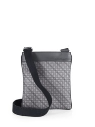 Salvatore Ferragamo Gancio Tex Crossbody Bag Grey
