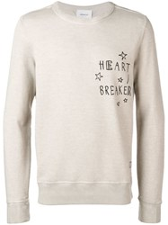 Dondup 'Heart Breaker' Sweatshirt Neutrals