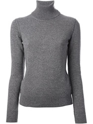 Dolce And Gabbana Turtle Neck Sweater Grey