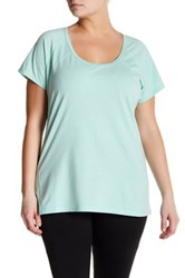 Z By Zella Scoop Neck Seamed Tee Plus Size Green