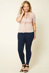 Forever 21 Plus Size High Rise Jeggings Indigo