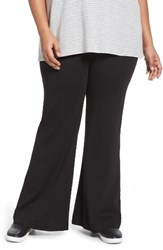 Three Dots Plus Size Women's Flare Leg Knit Pants