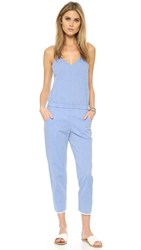 Stateside Raw Cuff Jumpsuit Chambray